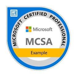 La certificazione Microsoft Certified Solutions Associate è destinata a persone che cercano il loro primo lavoro nell'ambiente della Tecnologia dell'Informazione. La certificazione MCSA è un prerequisito per altre certificazioni Microsoft più avanzate.