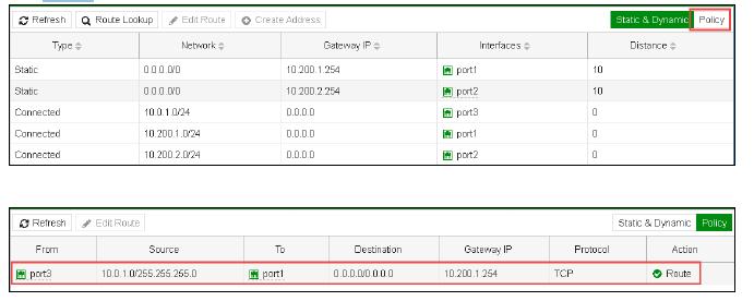 Bilanciamento del traffico Fortinet 7
