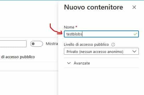 Configura Azure BLOB